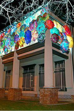 art house at night
