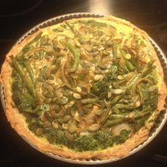Kyllingekødstærte med spinat og grønkål