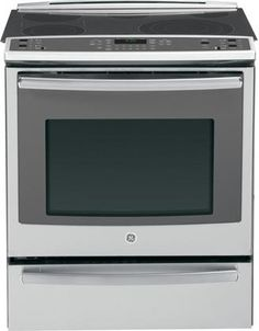 GE Slide-In Front Control Electric Convection Range in Stainless Steel Manufacturer's WarrantyWarming Drawer True European Convection with Precise Aire Expandable Bridge CuFt Capacity Copper Appliances, Retro Appliances, Kitchen Appliances, Wolf Appliances, Cooking Appliances, Kitchen Cabinets, Kitchen Stove, Cool Kitchens