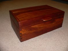 Handmade solid cherry jewelry box. via Etsy.