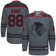 8138cf6e1f2b1 Mens Chicago Blackhawks Patrick Kane Reebok Charcoal Cross Check Premier  Fashion Jersey. My boyfriend would