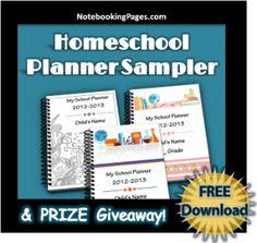 FREE Homeschool Planner Sampler and Giveaway
