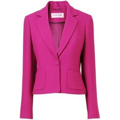 Anna one button jacket Magenta found on Polyvore
