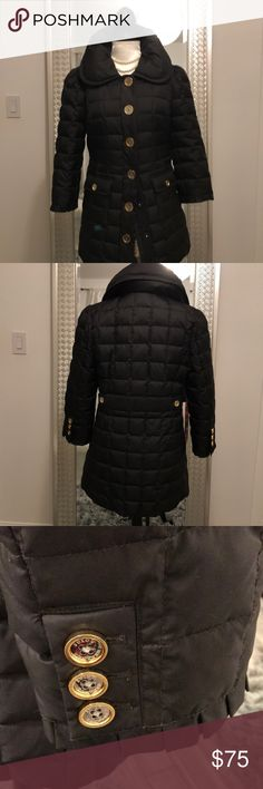 Coat Juicy Couture Black Coat.  Hardly worn, like new.  This could be your favorite go to coat!! Very versatile and you can dress it up or down.  Either way it's fabulous 💋 Juicy Couture Jackets & Coats Puffers