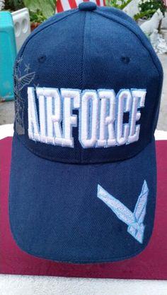 US AIR FORCE CAP - ADJUSTABLE / VELCRO - 3D LETTERING - $ 7.99 + 1.99 S/H - Ebay account: patriciakessler