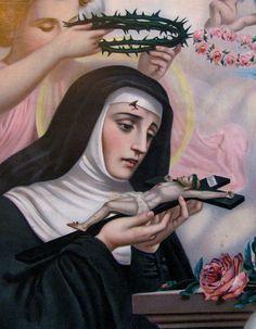 Santa Rita de Cássia, Religiosa Agostiniana, uma santa que viveu de forma perfeita todas as fases possíveis para uma mulher: a infância, a juventude, a velhice, a vida matrimonial, a maternidade, a viuvez e a vida religiosa e consagrada.