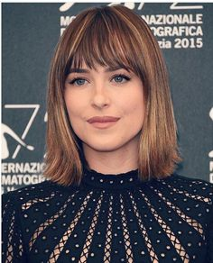 Why Dakota Johnson is now officially our go-to girl for beauty and hair inspo Love Hair, Great Hair, Hairstyles With Bangs, Pretty Hairstyles, Summer Hairstyles, Bob Hairstyle, Hair Day, New Hair, Hair Inspo