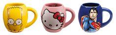 Vandor 99312 Darth Vader and Yoda 2 pc. Mug Printing, Coffee Cups, Ceramics, Mugs, Tableware, Prints, Blue, Tea Time, Singapore