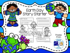 This is a Story Starter that your students can use to help them write a story about Earth Day.  Students fill in the blanks for each sentence on the Story Starter page.  Once each rectangle is complete, they then copy their story onto handwriting paper following the numbers on the Story Starter for a perfectly ordered story.**************************************************************************** Please let me know what you think!