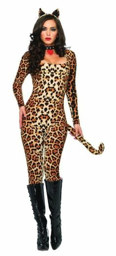 SEXY COUGAR ADULT HALLOWEEN BROWN COSTUME FOR WOMEN #LegAvenue #CompleteCostume