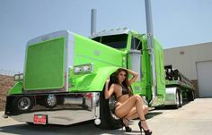 Lime green Peterbilt +