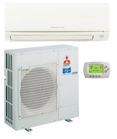 36,000 Btu/h 14 Seer Mitsubishi Single-Zone Mini Split Heat Pump System - PUZA36NHA4 - PKAA36KA4 - MHK1 MHK1 Wireless Remote Receiver Kit Included.. Wall-mounted indoor unit for residential and commercial applications.. Shiny-white-exterior plastic; compact design.. Quiet operation -both indoor and outdoor units.. Self-check function -integrated diagnostics..  #Mitsubishi #HomeImprovement