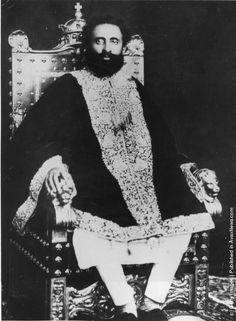vintage everyday: Old Portraits of Emperor Haile Selassie I of Ethiopia