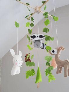 Selva bebé  bosque criaturas móviles  móvil de cuna