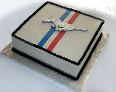 Forever After Cakes - Retro Mustang Groom's Cake
