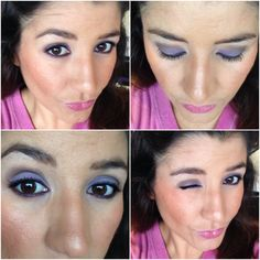 Lilac and purple makeup