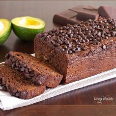 Paleo Avocado Chocolate Bread- gluten, grain and dairy free