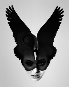 This amazing headpiece would be great for the beginning of a dark fairytale costume!