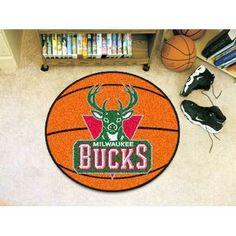 Milwaukee Bucks NBA Basketball Mat (29 diameter)