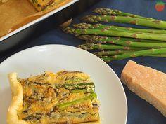 Receta Pastel espárragos y queso feta HortoGourmet/Asparagus and feta cheese quiché