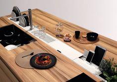 EASYRACK KITCHEN FLAT Canale attrezzato per cucina by DOMUSOMNIA