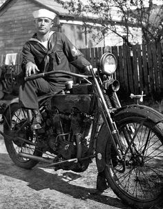 Luther W. Coleman and his Harley Davidson motorcycle: St. Petersburg, Florida | by State Library and Archives of Florida