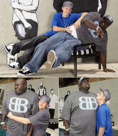 Rob Dyrdek and Big Black friendship I think yes! Rob And Big, Rob Dyrdek, Good People, Perfect People, Beautiful People, Best B, Building For Kids, Smiles And Laughs, Big Guys