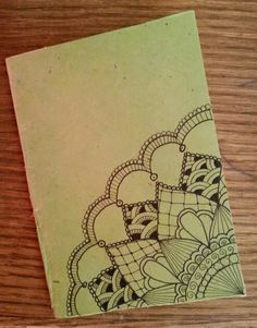 Diy notebook in rice paper. Zentangle design
