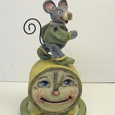 The Mouse Ran Up the Clock - Papier Mache Nursery Rhyme by Alycia Matthews. $52.00, via Etsy.