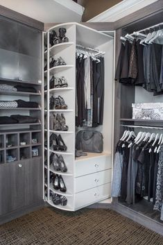TYPICAL WALK-IN CLOSET LAYOUT. Rectangular or Square | No irregular corners. DESIGN HINTS - The best closet organization designs are based upon proper measurement of your closet space. Take the ... We recommend that you measure across each wall at 3 different heights and enter the smallest dimension.