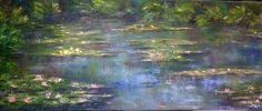 2014, Original Oil on Canvas, Water Lilies, Olivia Watney