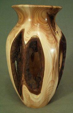 ~ Yew Wood Vase ~