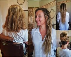 By Flower Child Dreadlocks Brisbane, Queensland    Louise, a local muso, opted for thin dreadlocks with human hair extensions. We left out her fringe and gave her loose ends to give her a softer look. So beautiful and elegant. This took one locktician 7.5 hours to complete.     Like us on Facebook! facebook.com/flowerchilddreadlocks
