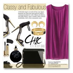 """""""Classy and Fabulous"""" by stylemoi-offical ❤ liked on Polyvore featuring CC SKYE, Urban Decay, Guerlain, Valentino, L'Oréal Paris, goldsandals and stylemoi"""
