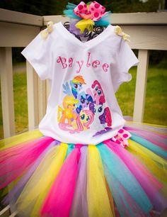 Mi traje de cumpleaños pequeño Pony mi por IzzyBsAccessories