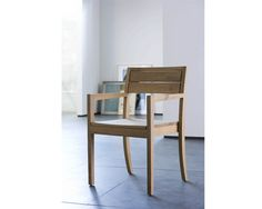 Ethnicraft© - Products » Chairs & Sofas »Oak LS 2 chair - with armrest