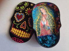 Virgen de Guadalupe Pocket Shrine by TheStatelyRaven on Etsy https://www.etsy.com/listing/179609167/virgen-de-guadalupe-pocket-shrine