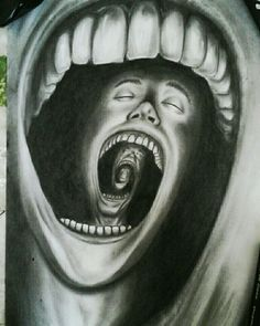Charcoal on paper, surrealism