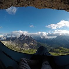 WOULD YOU DARE? Some views are just flat out spectacular, and this shot hits a homerun in that category🤙 📸… Stay Wild, Dares, Hammock, Shots, Flat, Mountains, Nature, Travel, Instagram