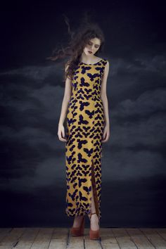Violin Dress in Devore Owl.  Available from September 2012.  View the full collection:  http://www.charlottetaylorltd.com/#gallery_18   #charlottetaylor