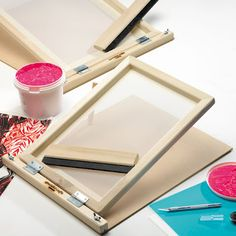 Make your own silkscreen frame by simply following these steps below.