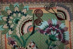 top portion detail of Visions Of Versallies QUilt
