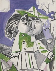 Pablo Picasso – Paloma, Oil on canvas, 32x25 1/2 in. Painted on 15 April 1954.