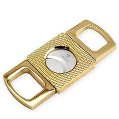 LP Best Cigar Cutter , Stainless Steel , Double Blade , Easy to Cut for All Size Cigars , Sharp Enough to Cut More Pillars - Gold