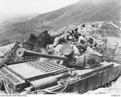 """The 8th hussar regiment of the British army and its tanks """"centurion"""" during the war in Korea. Roughly 1951-th year."""