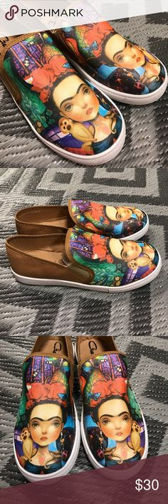 New Frida Kahlo Tennis Shoes Loafers Brown New, super comfy! Various sizes available. Cielito Lindo  Shoes Flats & Loafers