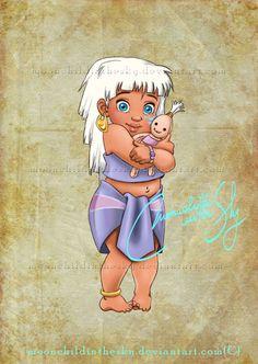 Crianças Disney Princesas Kida