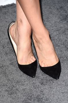 Kaley Cuoco (shoe details) attends ELLE's 21st Annual Women in Hollywood Celebration at the Four Seasons Hotel on October 20, 2014 in Beverly Hills, California.