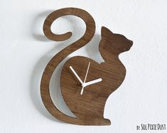 Wall Clock CAT WAITING by SolPixieDust