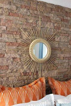 DIY Sunburst Mirror   DIY Home Decorating Ideas For Mid Century Modern Lovers